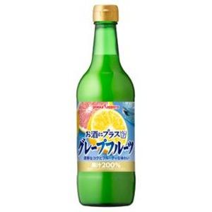【まとめ買い】ポッカサッポロ お酒にプラス グレープフルーツ 540ml 瓶 12本入り(1ケース)