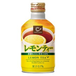 【まとめ買い】ポッカサッポロ カフェ・ドクリエ レモンティー 275g ボトル缶 48本入り(24本×2ケース)