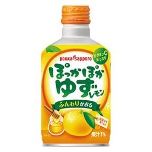【まとめ買い】ポッカサッポロ ぽっかぽか ゆずレモン ボトル缶 290ml 24本入り(1ケース) - 拡大画像