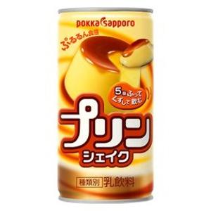 【まとめ買い】ポッカサッポロ プリンシェイク 缶 190g 30本入り(1ケース)