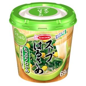 【まとめ買い】エースコック スープはるさめ たっぷりわかめ 20g×24カップ(6カップ×4ケース)
