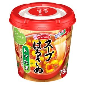 【まとめ買い】エースコック スープはるさめ トマたま 23g×24カップ(6カップ×4ケース)