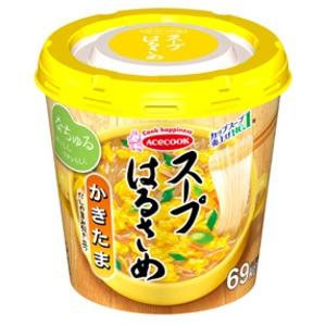 【まとめ買い】エースコック スープはるさめ かきたま 20g×24カップ(6カップ×4ケース)