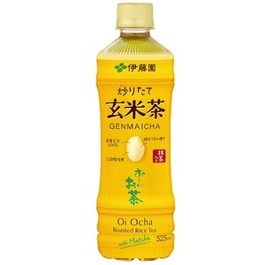 【まとめ買い】伊藤園おーいお茶抹茶入り玄米茶ペットボトル525ml×24本(1ケース)