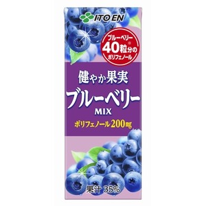 【まとめ買い】伊藤園 健やか果実 ブルーベリーMIX 紙パック 200ml×24本(1ケース)