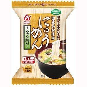 【まとめ買い】アマノフーズ にゅうめん まろやか鶏だし 15g(フリーズドライ) 48個(1ケース)