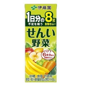 【まとめ買い】伊藤園せんい野菜紙パック200ml×24本(1ケース)