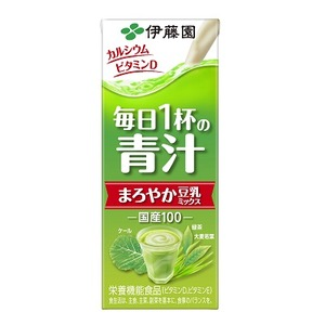 【まとめ買い】伊藤園 毎日1杯の青汁 まろやか豆乳ミックス 紙パック 200ml×24本(1ケース)