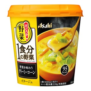 【まとめ買い】アサヒフーズおどろき野菜1食分の野菜野菜を味わうクリーミーコーン24カップ入り(6カップ×4ケース)