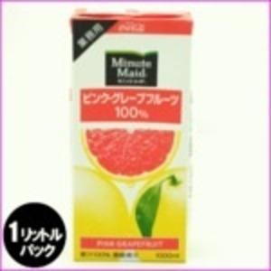 コカ・コーラ(コカコーラ)ミニッツメイドピンクグレープフルーツ100%1L紙パック×12(6×2)本入