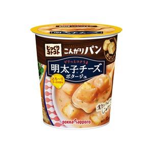 【まとめ買い】ポッカサッポロ じっくりコトコト こんがりパン 明太子チーズポタージュ (カップ) 22.1g×18カップ(6カップ×3ケース)