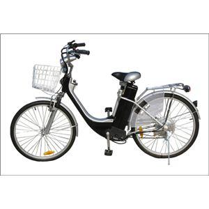 電動アシスト自転車 LX-BIKE(シマノ製6段変速・前カゴ付) LX-24 BLACK - 拡大画像