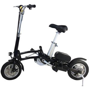 【送料無料】 12インチ電動アシスト自転車 シマノ製6段変速機 ブラック 重さわずか18kg、電車持込&車トランク収納等に最適な一台