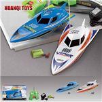 【正規品】HQ社950-10 プールや風呂場で遊べるジェットスキーのボート型ラジコン ブルー