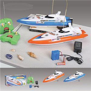 【正規品】HQ社951-10 プールや風呂場で遊べるジェットスキーのボート型ラジコン ブルー - 拡大画像