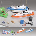【正規品】HQ社951-10 プールや風呂場で遊べるジェットスキーのボート型ラジコン ブルー