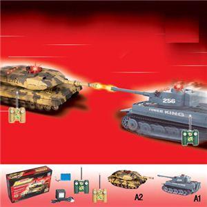 【正規品】HQ社508-10 憧れの乗り物を操縦できる♪戦車のラジコンカー A2(迷彩) - 拡大画像