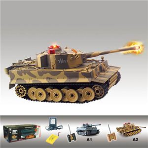 【正規品】HQ社518 憧れの乗り物を操縦できる♪戦車のラジコンカー A2 - 拡大画像