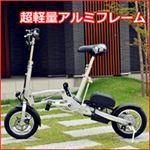 走行距離が一番長い(35KM〜40KM) 12インチ電動アシスト自転車!わずか1秒で折りたたみ可能でコンパクトな大人気電動自転車!電動アシストで坂道もラクラク☆アウトドアや毎日のお出かけ、通勤や通学などに◎プレゼントとしてもおススメ!専用収納袋付き!重さわずか18kg、電車持込&車トランク収納等に最適な一台