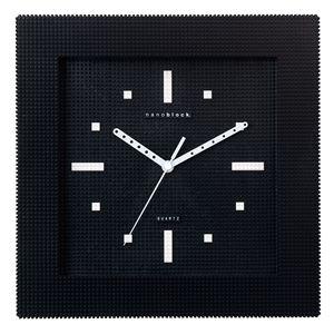 nanoblock(ナノブロック) Wall-clock(ウォールクロック) クロ/クロ NAWC-96903BK