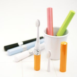 音波式電動歯ブラシ PURE CARE オレンジ2色セット