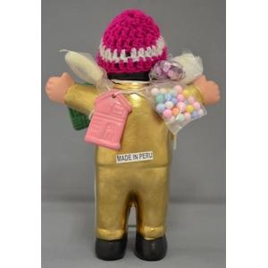 【エケコ人形15cm】光沢ゴールド(金色) モデル(ペルー直輸入)