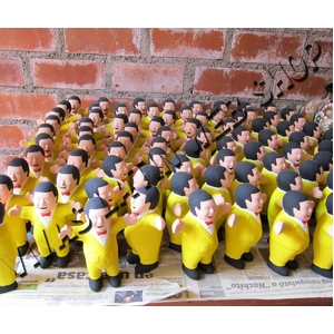 【エケコ人形15cm】金運の色黄色イエロー(黄色) 限定モデル女性に人気!(ペルー直輸入)