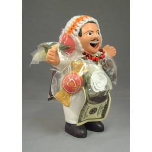 【エケコ人形15cm】ワイルーロのネックレス付、ホワイト(WHITE)VIVASスペシャル・バージョン(ペルー直輸入)