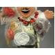 【エケコ人形15cm】ワイルーロのネックレス付、ホワイト(WHITE)VIVASスペシャル・バージョン(ペルー直輸入) - 縮小画像5