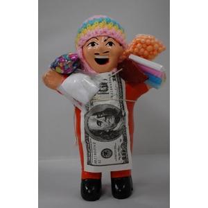 【エケコ人形18cm】ミックス色「タバコをくわえさせてあげるとお礼に願い事が叶えてくれる!」と話題になった幸運人形。」【(色の指定ができません)(ペルー直輸入) タイプ1 - 拡大画像