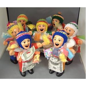 【エケコ人形18cm】ミックス色「タバコをくわえさせてあげるとお礼に願い事が叶えてくれる!」と話題になった幸運人形。」【(色の指定ができません)(ペルー直輸入) タイプ1