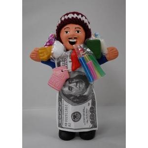 【エケコ人形18cm】ミックス色「タバコをくわえさせてあげるとお礼に願い事が叶えてくれる!」と話題になった幸運人形。」【(色の指定ができません)(ペルー直輸入)タイプ2  - 拡大画像