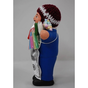 【エケコ人形18cm】ミックス色「タバコをくわえさせてあげるとお礼に願い事が叶えてくれる!」と話題になった幸運人形。」【(色の指定ができません)(ペルー直輸入)タイプ2左