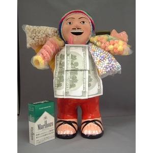 【特大エケコ人形30cm】ペルー製「限定モデル、ビッグサイズのエケコ人形です。」【色などのご指定は出来ません。】商売繁盛の福  - 拡大画像
