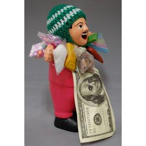 【エケコ人形19cm】L サイズのエケコ人形・色はピンク(もも色) (ペルー直輸入)