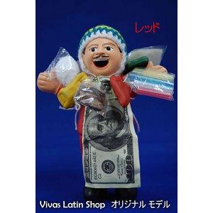 【エケコ人形15cm】レッド(赤)(ペルー直輸入)の紹介画像2