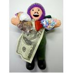 【エケコ人形19cm】L サイズのエケコ人形・色はグリーン(緑色) 当店限定モデル(ペルー直輸入)