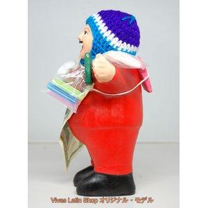 【エケコ人形19cm】 L サイズのエケコ人形・色はレッド(赤) 当店モデル(ペルー直輸入)