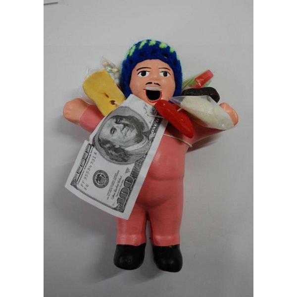 【エケコ人形15cm】【TYPE:3】うすいピンク色(桃色) 女性に人気!(ペルー直輸入)f00