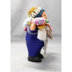 【エケコ人形15cm】 エケコ人形・色はブルー(青色) 当店モデル(ペルー直輸入)