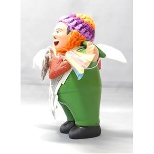 【エケコ人形15cm】エケコ人形・色はグリーン(緑色)当店モデル(ペルー直輸入)