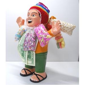 【特大エケコ人形35cm】ペルー製「現品・限定」ビッグサイズのエケコ人形です。商売繁盛の福 の写真1