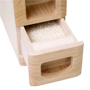 マッキンリー 無洗米兼用 米びつ 桐製 6kg収納型 RW210/M