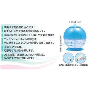 ウィーキャン 空気洗浄機 ウォータークリーンミニ LEDランプ搭載 USB対応 - 拡大画像