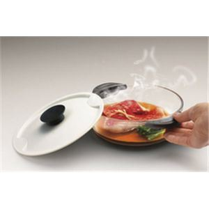 かんたんレンジ鍋 浅型なべ(小) ホワイト - 拡大画像