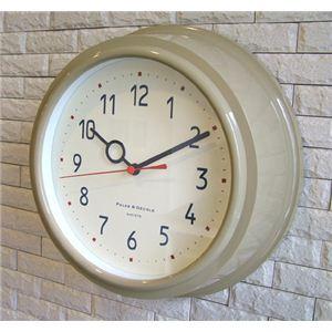 壁掛け時計 Filic ベージュ - 拡大画像