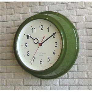 壁掛け時計 Filic グリーン - 拡大画像