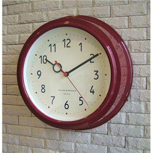 壁掛け時計 Filic ワインレッド - 拡大画像