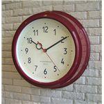 壁掛け時計 Filic ワインレッド