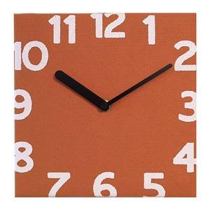 壁掛け時計 Torno オレンジ - 拡大画像